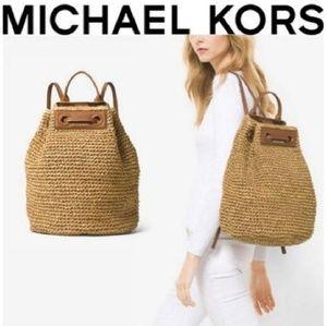 MICHAEL KORS Straw Backpack LIKE NEW!